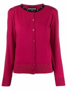 Boutique Moschino contrast cardigan - PINK
