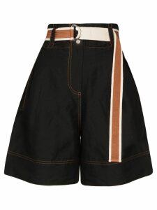 Lee Mathews Lucien wide-leg shorts - Black