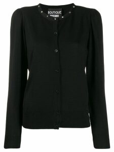 Boutique Moschino stud detail cardigan - Black