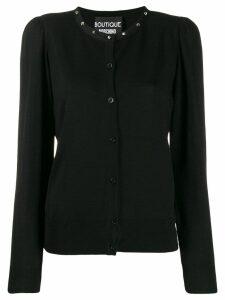 Boutique Moschino stud detail cardigan - Black