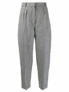 Alexander McQueen prince of wales check trousers - Black