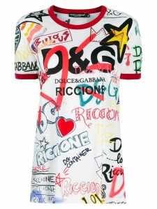 Dolce & Gabbana Exclusive all-over print T-shirt - White
