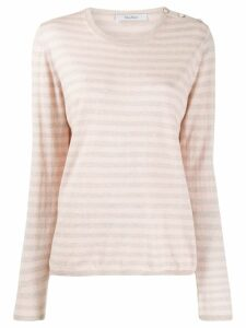 Max Mara striped knit jumper - PINK