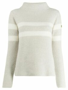 Barbour stripe detail knit jumper - Neutrals