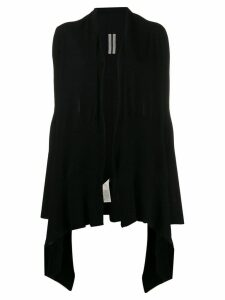 Rick Owens long wrap cardigan - Black