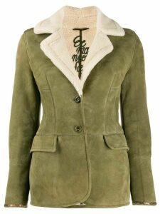 Ermanno Scervino shearling lining jacket - Green