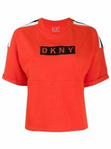 DKNY logo print T-shirt - Orange