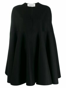 Valentino slit neckline cape - Black