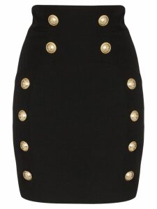 Balmain button-detail mini skirt - Black