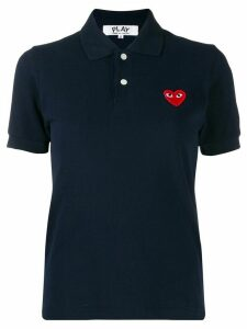 Comme Des Garçons Play embroidered heart polo shirt - Blue