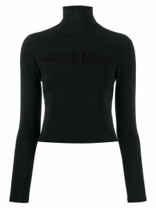 A.W.A.K.E. Mode cut-out detail turtleneck top - Black