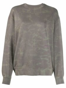 Eckhaus Latta water effect print sweatshirt - Grey
