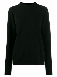 Roberto Collina mock-collar knit sweater - Black