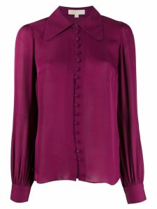 Michael Michael Kors curved hem blouse - PURPLE
