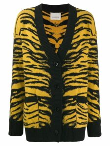 Laneus animal pattern knit cardigan - Yellow