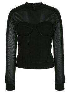 RtA slim-fit Apollo top - Black