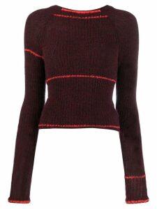 Eckhaus Latta ribbed knit jumper - Red