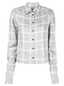 RtA long-sleeved check shirt - Grey