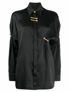 Versace Medusa logo clip shirt - Black