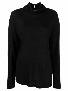 Ann Demeulemeester deconstructed knit sweater - Black