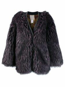 Marco De Vincenzo faux fur coat - Pink