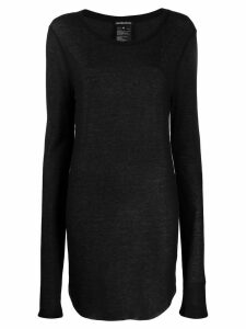Ann Demeulemeester oversized knitted top - Black