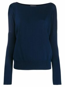 Zanone relaxed-fit knit sweater - Blue