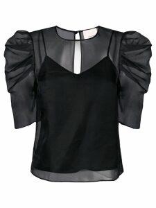 Cinq A Sept Erin gathered sleeve blouse - Black