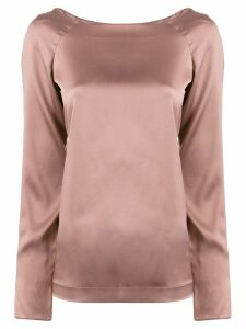 Fabiana Filippi long-sleeve silk top - Pink