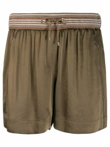 Brunello Cucinelli pleated short shorts - Green
