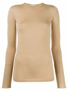 Stella McCartney sheer slim-fit top - NEUTRALS