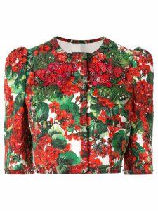 Dolce & Gabbana Portofino print cropped jacket - Red