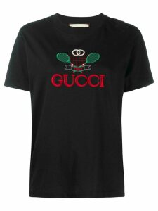 Gucci Gucci Tennis embroidered T-shirt - Black