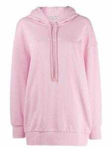 Stella McCartney 2001 logo print hoodie - PINK