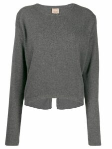 Nude knitted wool sweatshirt - Grey