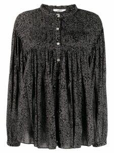 Isabel Marant Étoile floral print peplum swing shirt - Black