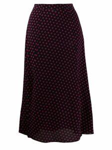 Michael Michael Kors printed midi skirt - Black