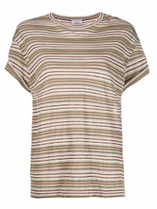 Brunello Cucinelli striped T-shirt - Neutrals
