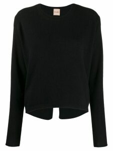 Nude knitted wool sweatshirt - Black