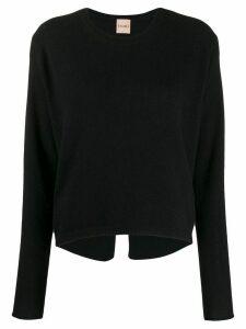 Nude knitted wool sweatshirt - Black