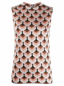 Paco Rabanne knitted sleeveless top - Grey