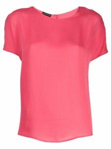 Emporio Armani round neck silk blouse - Pink