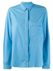 Closed patch pocket shirt - Blue