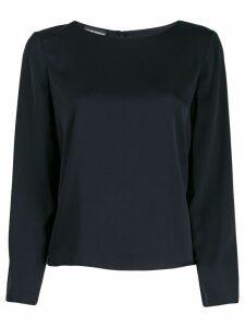 Emporio Armani Camicia silk blouse - Blue