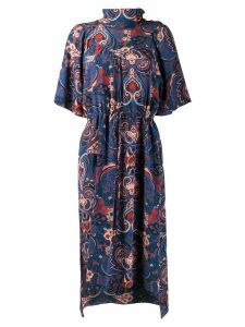 See By Chloé paisley print midi dress - Blue