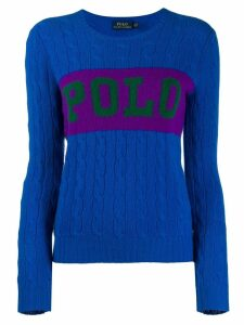 Polo Ralph Lauren logo knitted jumper - Blue
