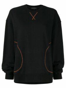 Lee Mathews oversized Barclay sweatshirt - Black