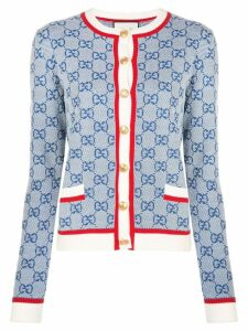 Gucci GG Supreme knitted cardigan - Blue