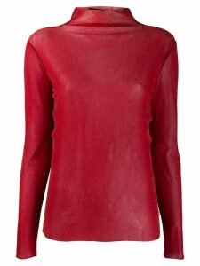 Luisa Cerano stand-up collar jumper - Red
