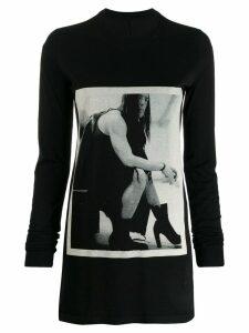Rick Owens DRKSHDW graphic print sweatshirt - Black